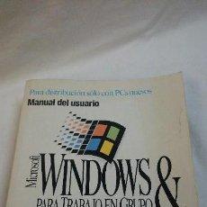 Libros de segunda mano: WINDOWS MS-2 6.2,PARA TRABAJO EN GRUPO. Lote 76914259