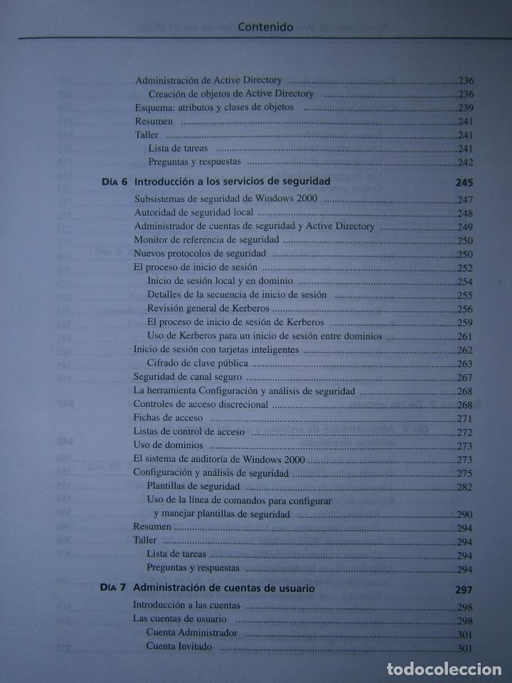 Libros de segunda mano: APRENDIENDO MICROSOFT WINDOWS 2000 SERVER EN 21 DIAS Peter Davis Barry Lewis Pearson 1 edicion 2001 - Foto 11 - 81188044