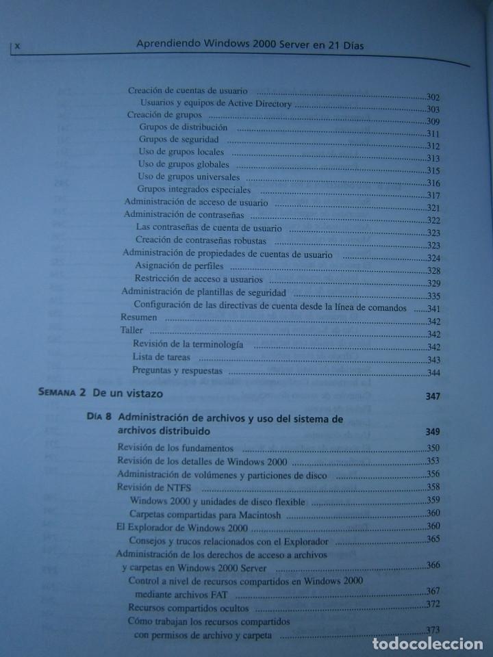 Libros de segunda mano: APRENDIENDO MICROSOFT WINDOWS 2000 SERVER EN 21 DIAS Peter Davis Barry Lewis Pearson 1 edicion 2001 - Foto 12 - 81188044