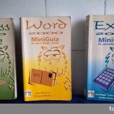Libros de segunda mano: LOTE 3 LIBROS INFORMÁTICA WORD, ACCESS Y EXCEL 2000 MINIGUÍA DE APRENDIZAJE RÁPIDO. Lote 87706752