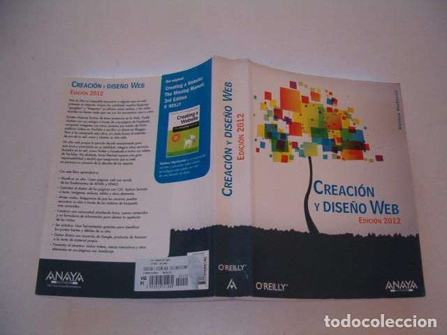 MATTHEW MACDONALD. CREACIÓN Y DISEÑO WEB. EDICIÓN 2012. RM81294. (Libros de Segunda Mano - Informática)
