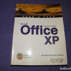 Libros de segunda mano: MICROSOFT OFICCE XP - VERSION 2002 - ANAYA . Lote 89356748
