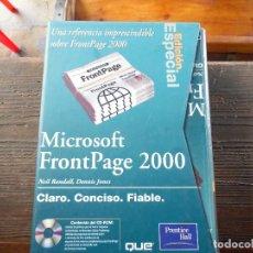Libros de segunda mano: MICROSOFT FRONTPAGE 2000. Lote 90860725