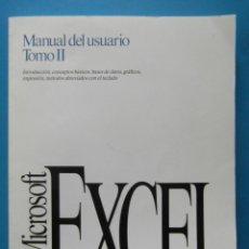Libros de segunda mano: APPLE MACINTOSH. MICROSOFT EXCEL. MANUAL DEL USUARIO TOMO II. APPLE Y WINDOWS. 1992. Lote 92117745