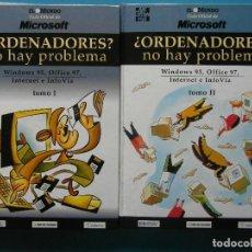 Libros de segunda mano: ¿ORDENADORES? NO HAY PROBLEMA TOMOS I Y II. WINDOWS 95, OFFICE 97, INTERNET E INFOVIA. EL MUNDO. Lote 92120025