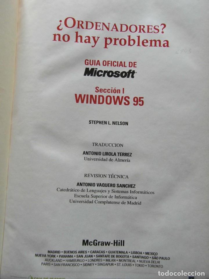 Libros de segunda mano: ¿Ordenadores? no hay problema Tomos I y II. Windows 95, Office 97, internet e infovia. El Mundo - Foto 2 - 92120025
