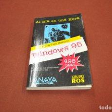 Libros de segunda mano: AL DIA EN UNA HORA APRIL TEST RELEASE WINDOWS 95 ANAYA - TI4. Lote 95693451