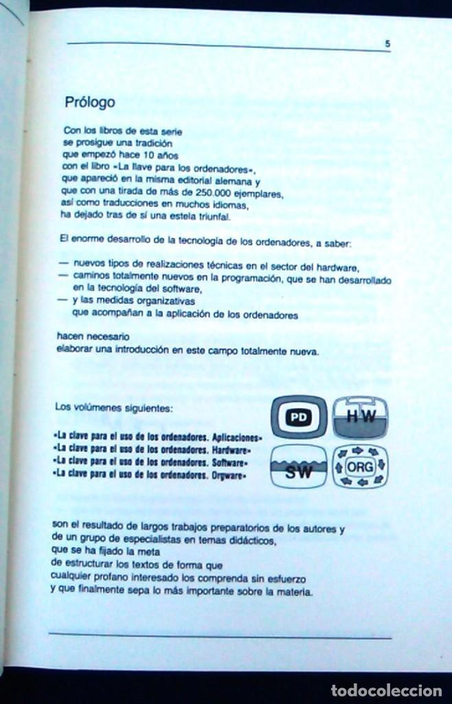 Libros de segunda mano: La clave para el uso de los ordenadores. Orgware. Wilfried Weitzel. CEAC. Informática años 80. - Foto 3 - 95928727