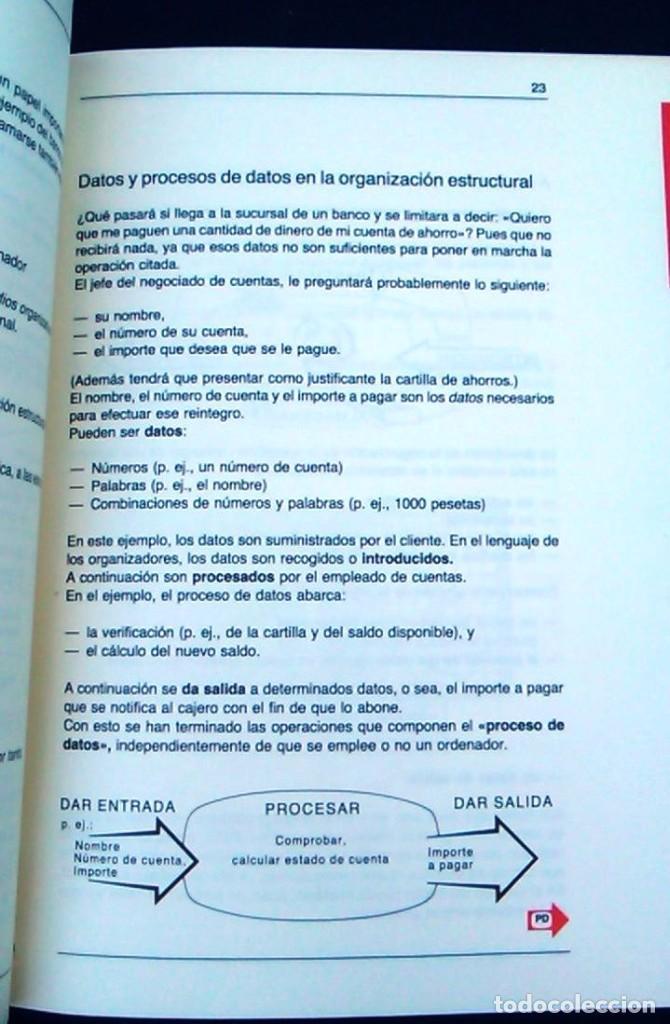 Libros de segunda mano: La clave para el uso de los ordenadores. Orgware. Wilfried Weitzel. CEAC. Informática años 80. - Foto 4 - 95928727
