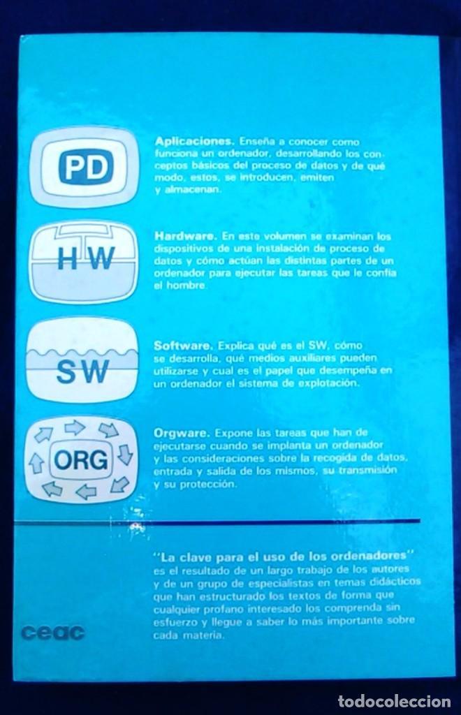 Libros de segunda mano: La clave para el uso de los ordenadores. Orgware. Wilfried Weitzel. CEAC. Informática años 80. - Foto 6 - 95928727