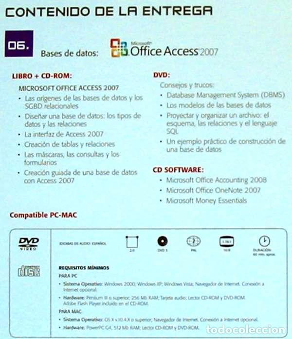 Libros de segunda mano: BASES DE DATOS - OFFICE ACCESS 2007 - LIBRO + DVD + 2 CD ROM 2008 - VER INDICE - Foto 2 - 97225103