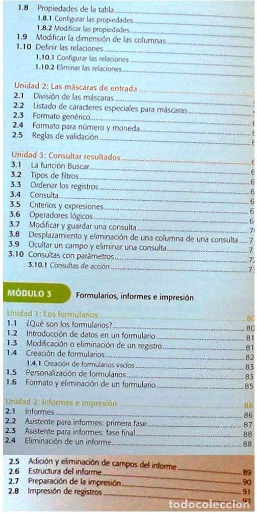 Libros de segunda mano: BASES DE DATOS - OFFICE ACCESS 2007 - LIBRO + DVD + 2 CD ROM 2008 - VER INDICE - Foto 5 - 97225103