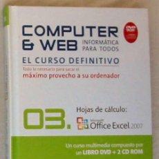 Libros de segunda mano: HOJAS DE CÁLCULO - OFFICE ACCESS 2007 - LIBRO + DVD + 2 CD ROM 2008 - VER INDICE. Lote 97227759