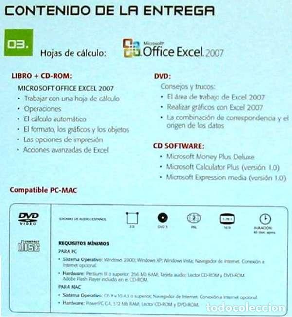 Libros de segunda mano: HOJAS DE CÁLCULO - OFFICE ACCESS 2007 - LIBRO + DVD + 2 CD ROM 2008 - VER INDICE - Foto 6 - 97227759