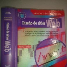 Libros de segunda mano: DISEÑO DE SITIOS WEB MANUAL DE REFERENCIA 2001 THOMAS A. POWELL 1ª ED. OSBORNE MCGRAW - HILL. Lote 97948567