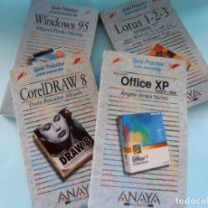 Libros de segunda mano: LOTE OFFICE XP, COREL DRAW, LOTUS 1-2-3 Y WINDOWS 95. ANAYA #LI-R. Lote 98151467