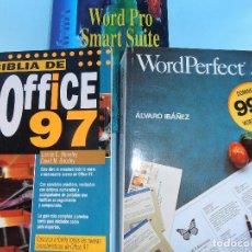 Libros de segunda mano: LOTE OFFICE 97,WORD PERFECT Y WORD PRO. ANAYA Y PARANINFO #LI-R. Lote 98152271
