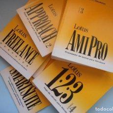 Libros de segunda mano: LOTUS SMARTSUITE. AMIPRO. LOTUS 123. FREELANCE. APPROACH. 8 LIBROS #LI-R. Lote 98153867