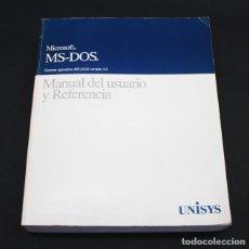 Libros de segunda mano: LIBRO DE INFORMATICA, MANUAL DE USUARIO Y REFERENCIA MICROSOFT MS DOS 5.0 UNISYS 764 PAG. Lote 98429919