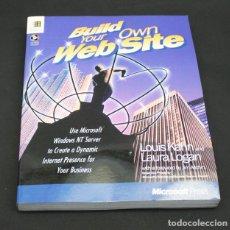 Libros de segunda mano: LIBRO DE INFORMATICA, BUILD YOUR OWN WEB SITE NT, MICROSOFT PRESS 1996, EN INGLES 219 PAG INCLUYE CD. Lote 98431607