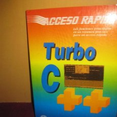 Libros de segunda mano: TURBO C + +. ACCESO RAPIDO. MICHAEL HARTMEIER. MARCOMBO 1991. Lote 104311179