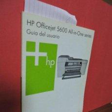 Libros de segunda mano: GUÍA DEL USUARIO HP OFFICEJET 5600 ALL-IN-ONE SERIES. ALEMANIA 2005. Lote 104363575