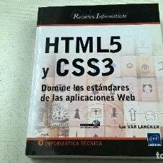 Libros de segunda mano: HTML5 Y CSS3 -DOMINE LOS ESTANDARES DE LAS APLICACIONES WEB-LUC VAN LANCKER-N 3. Lote 142084705