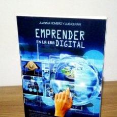 Libros de segunda mano: EMPRENDER EN LA ERA DIGITAL, ROMERO,JUANMA. OLIVÁN, LUIS. 1 ª ED. 2017. Lote 103641479