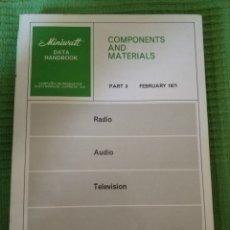 Libros de segunda mano: MINIWATT DATA BOOK FEBRERO 1971. Lote 109362004