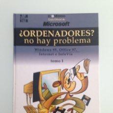 Libros de segunda mano: LIBRO,¿ORDENADORES? NO HAY PROBLEMA, WINDOWS 95, OFFICE 97, 2 TOMOS, EL MUNDO, MICROSOFT. Lote 110296683
