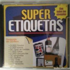 Libros de segunda mano: CD SUPER ETIQUETAS. Lote 111670043