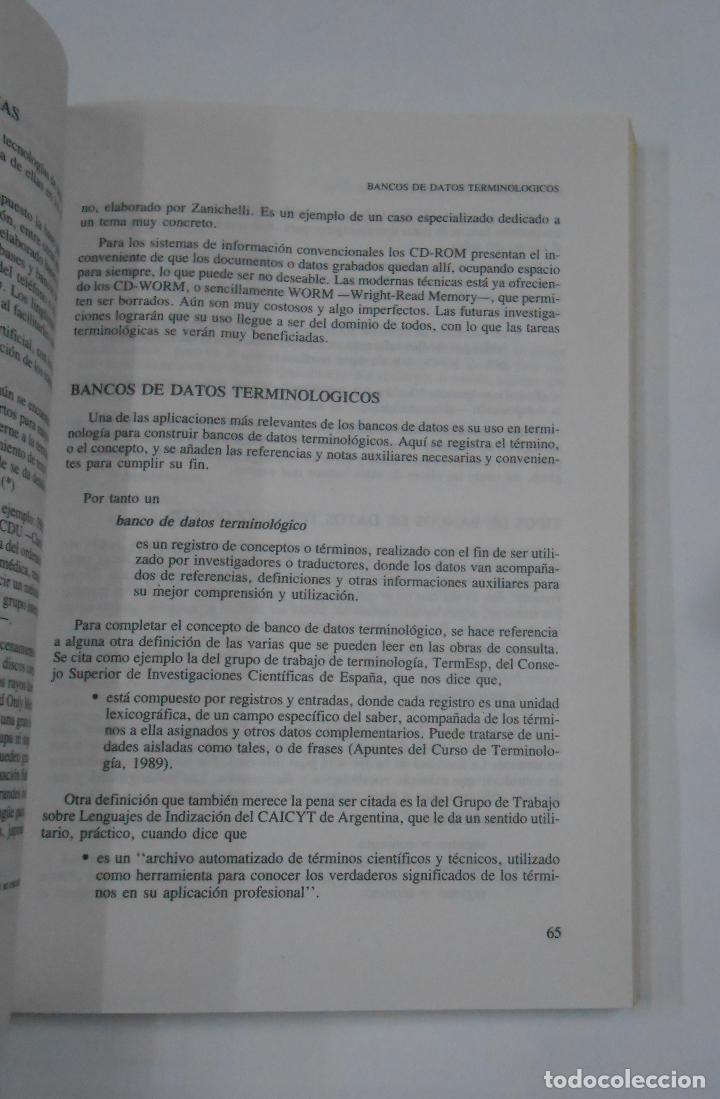 Libros de segunda mano: THESAUROS. LENGUAJES TERMINOLOGICOS. EMILIA CURRAS. EDITORIAL PARANINFO. TDK332 - Foto 2 - 112359887