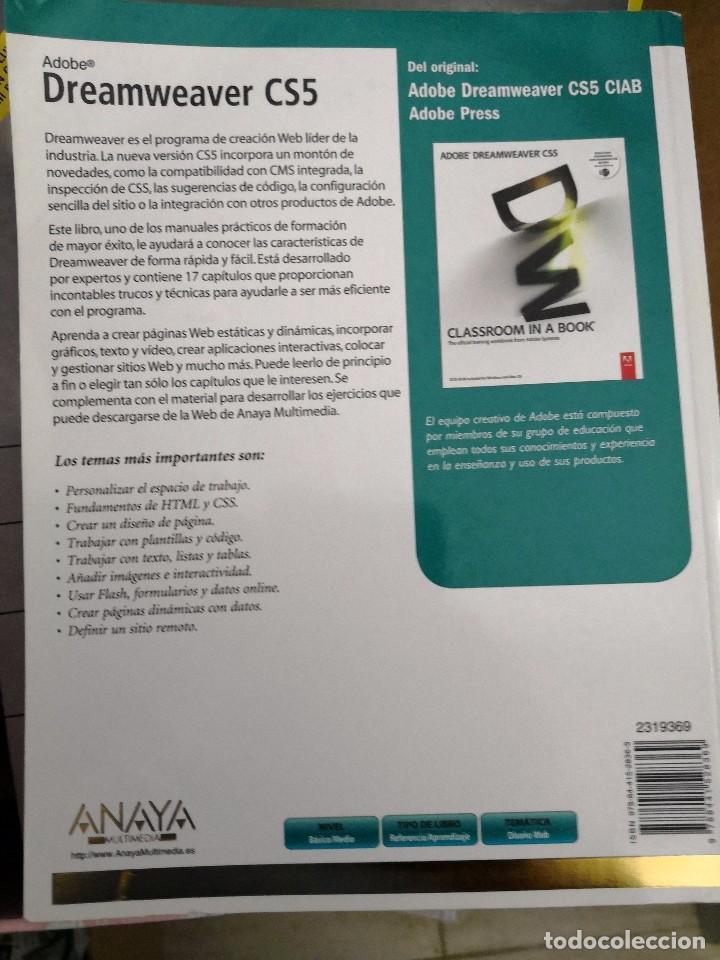Libros de segunda mano: Libro oficial ADOBE DREAMWEAVER CS4 ANAYA - Foto 2 - 113119831