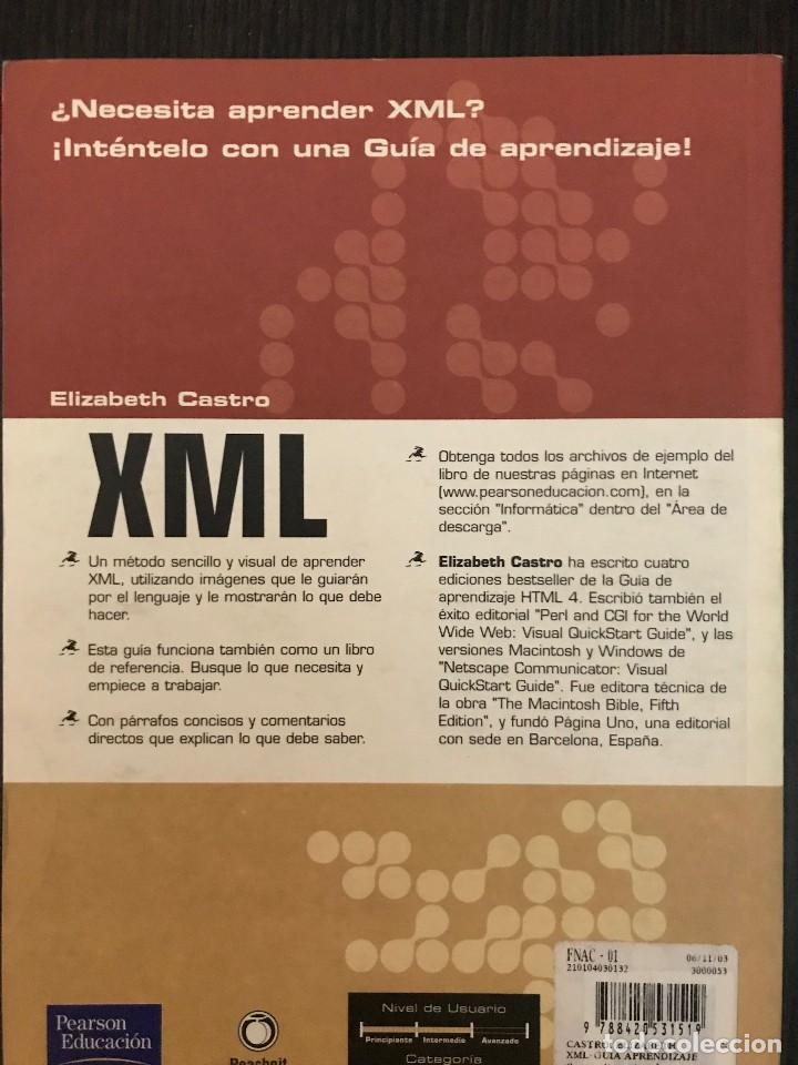 Libros de segunda mano: Guía de aprendizaje XML. Elizabeth Castro. Ed. Pearson Educación, 2002 - Foto 2 - 114127095