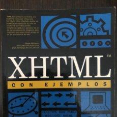 Libros de segunda mano: XHTML CON EJEMPLOS. SHANE MCCARRON. PRENTICE HALL, 2001. Lote 114127323