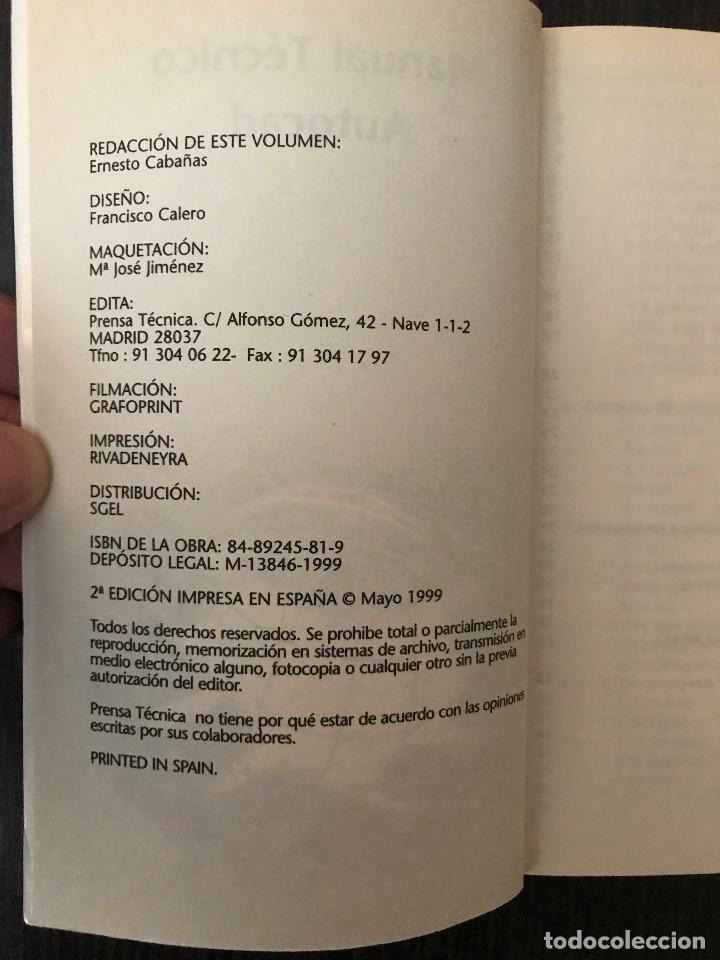 Libros de segunda mano: Manual Técnico de Autocad 14. Prensa Técnica. Más PC Biblioteca - Foto 3 - 114982275