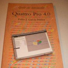 Libros de segunda mano: PABLO J GARCÍA NÚÑEZ. GUÍA DE INICIACIÓN QUATTRO PRO 4.0 ANAYA 1992 160 PÁGINAS. Lote 116196731