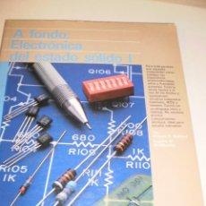 Libros de segunda mano: VV. AA. A FONDO: ELECTRÓNICA DEL ESTADIO SÓLIDO I. ANAYA 1988. 256 PÁGINAS. Lote 116222019