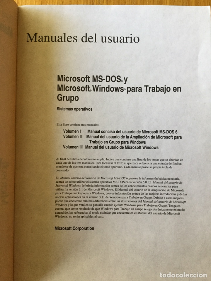 Libros de segunda mano: Manual usuario Windows para trabajo en grupo&MS-DOS 6.2 - Foto 3 - 116340188