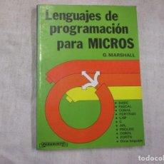 Libros de segunda mano - LENGUAJES DE PROGRAMACION PARA MICROS - G. MARSHALL - EDI PARANINFO 1985 146PAG - 116510615