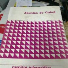 Libros de segunda mano: APUNTES DEL COBOL MONITOR INFORMATICA. 60 PAGINAS. Lote 124976074