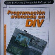 Libros de segunda mano: PROGRAMACION AVANZADA EN DIV PRENSA TECNICA 1998 SIN CD. Lote 117953827