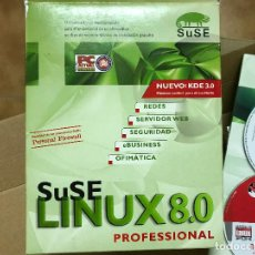 Libros de segunda mano: SUSE LINUX 8.0 PROFESIONAL REDES SERVIDORES ECT COMPLETO. Lote 119905535