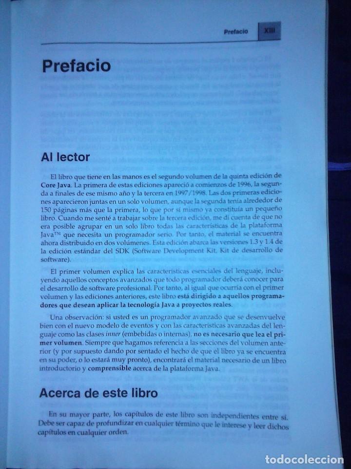 Libros de segunda mano: JAVA 2 VOL II. CARACTERISTICAS AVANZADAS CAY S. HORSTMANN & GARY CORNELL - Foto 7 - 120922627