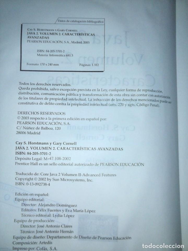 Libros de segunda mano: JAVA 2 VOL II. CARACTERISTICAS AVANZADAS CAY S. HORSTMANN & GARY CORNELL - Foto 15 - 120922627