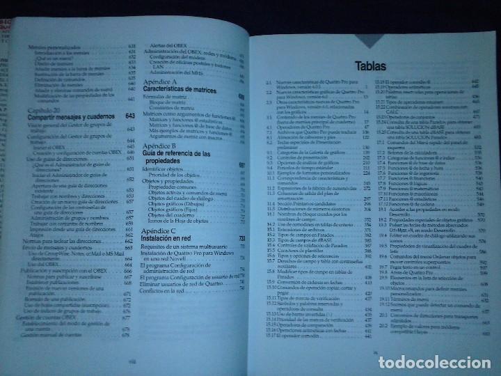 Libros de segunda mano: Corel Quattro Pro 6. Para Windows 95. - Foto 7 - 120923603