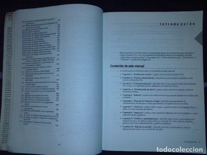 Libros de segunda mano: Corel Quattro Pro 6. Para Windows 95. - Foto 11 - 120923603