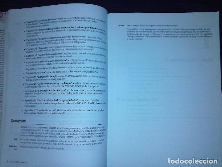 Libros de segunda mano: Corel Quattro Pro 6. Para Windows 95. - Foto 12 - 120923603