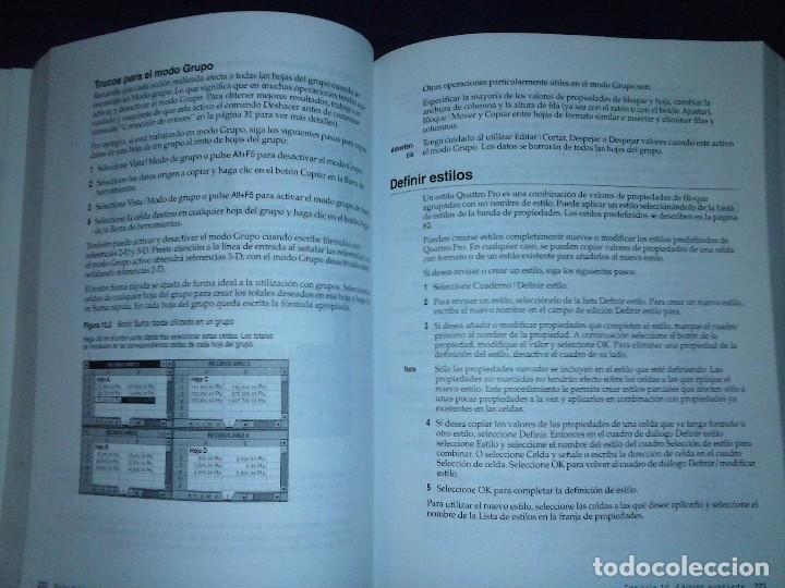 Libros de segunda mano: Corel Quattro Pro 6. Para Windows 95. - Foto 14 - 120923603
