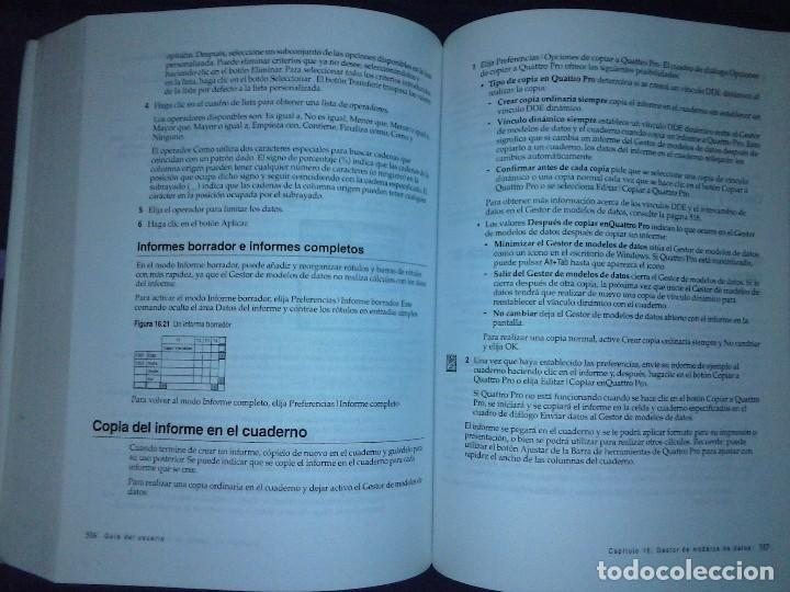 Libros de segunda mano: Corel Quattro Pro 6. Para Windows 95. - Foto 16 - 120923603